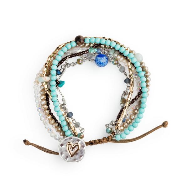 Beaded Love Bracelet Turquoise