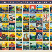 American States 500 Pc Puzzle