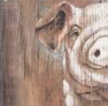 Large Wood Pig Portrait ***Local Pickup Only***