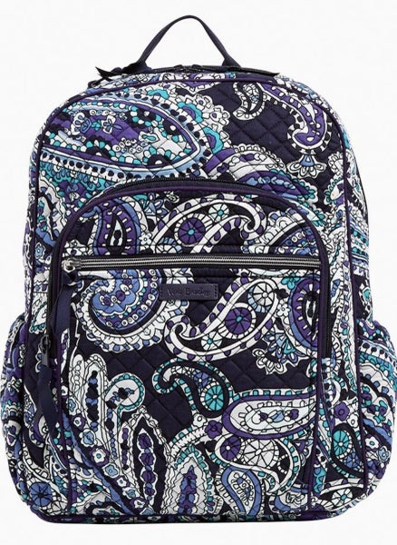 Vera Iconic Campus Backpack Deep Night Paisley