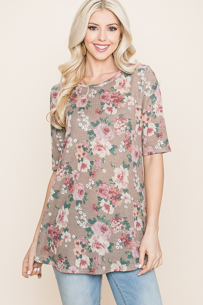 Relaxed Floral Print Top