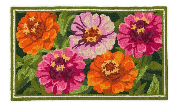 Hooked Rug Zinnia ***Local Pickup Only***