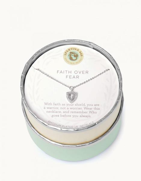 Sea La Vie Faith Over Fear Necklace Silver