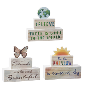 Wish for the World Block Signs