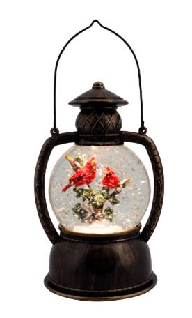 Glitter Lantern Cardinal Antique Bronze/Gold ***Local Pickup Only***