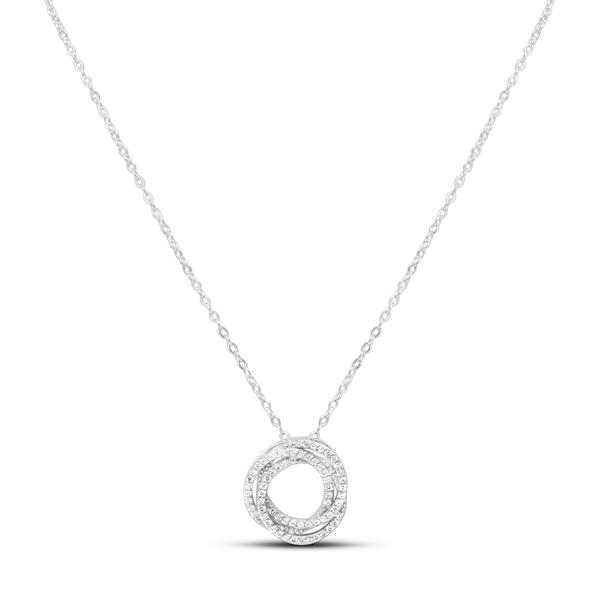 XOXO Chain Necklace Pave Tri O Silver