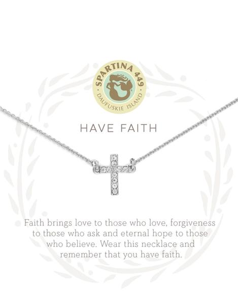 Sea La Vie Have Faith Necklace Silver