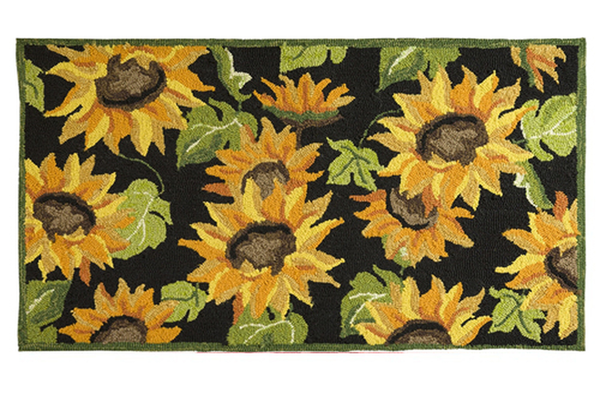 Hooked Rug Sunflowers ***Local Pickup Only***