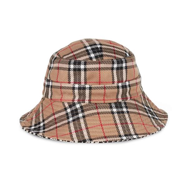 Liz Reversible Bucket Hat Tan/Black Houndstooth