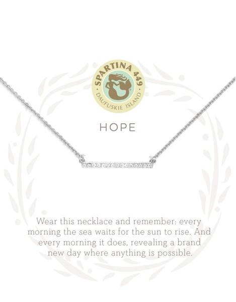 Sea La Vie Hope Necklace Silver