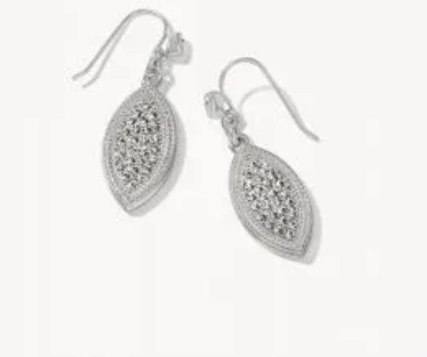 Spartina Petite Pave Petal Earrings