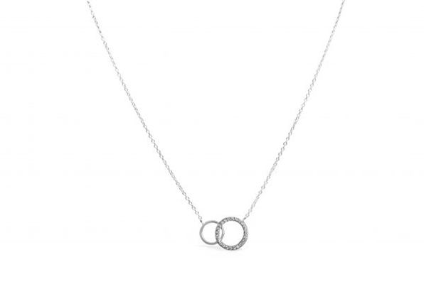 Dainty Double Circle Necklace