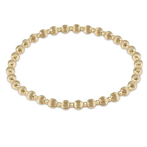 Dignity Grateful Pattern Bracelet 4mm Bead