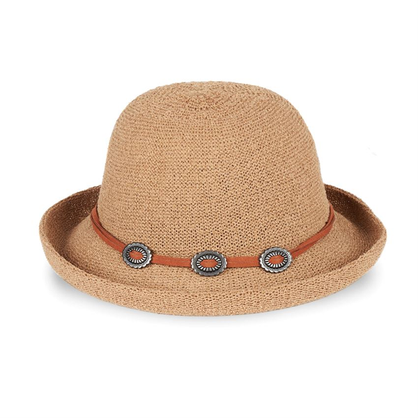 Mediterranean Hat w Concho Band Brown