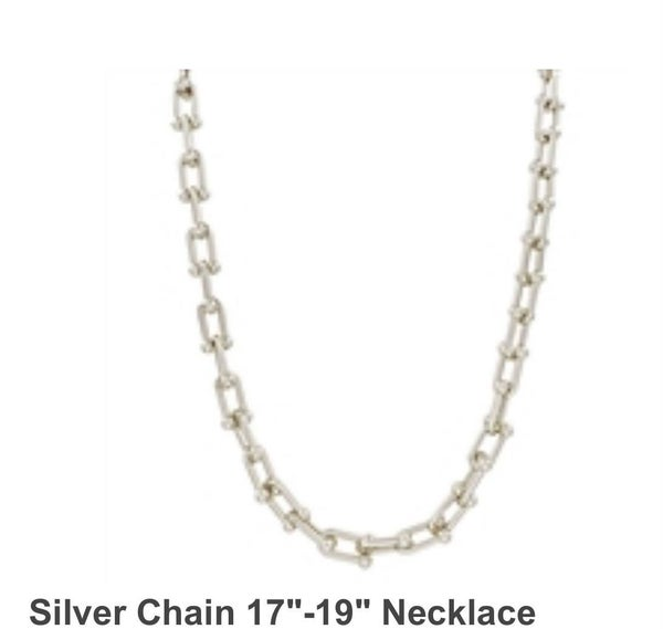Fashionista Silver Chain  17 inch to 19 inches