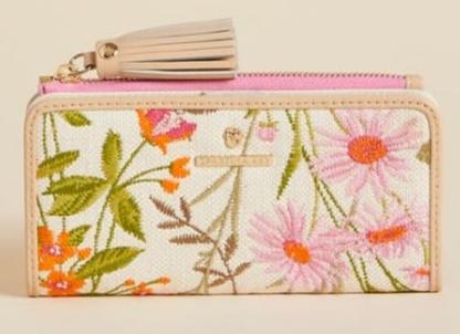 Tassel Snap Wallet Audobon Wildflower