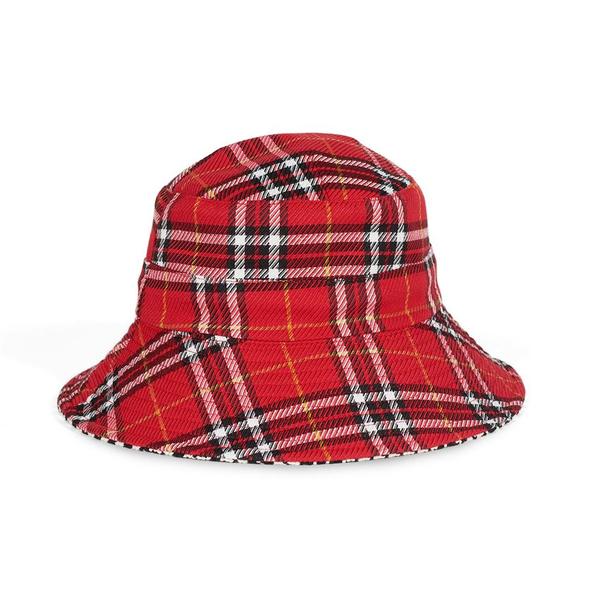 Liz Reversible Bucket Hat Red/Black Houndstooth