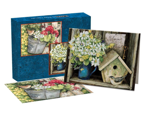 Birdhouse & Fence Assorted Boxed Note Cards