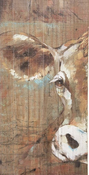 Painted Wooden Cow Print ***Local Pickup Only***