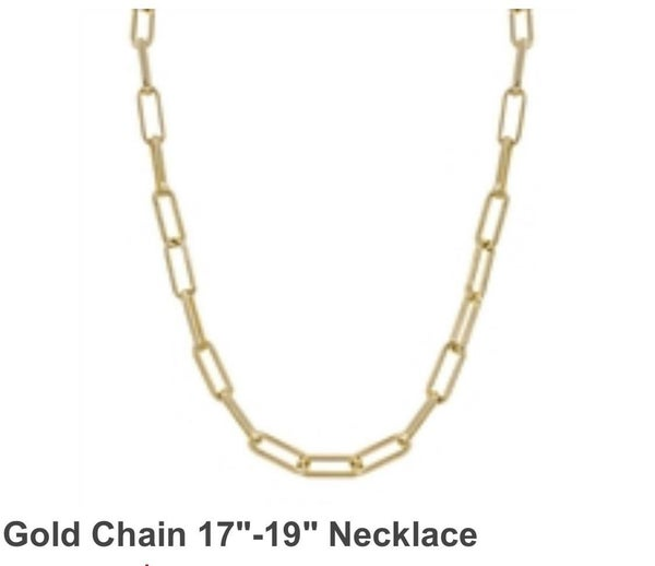 Fashionista Gold Chain Necklace 17 - 19 Inches