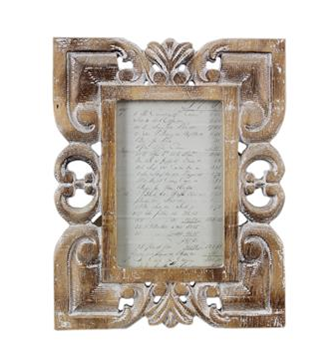 Wood Carved 4x6 Photo Frame