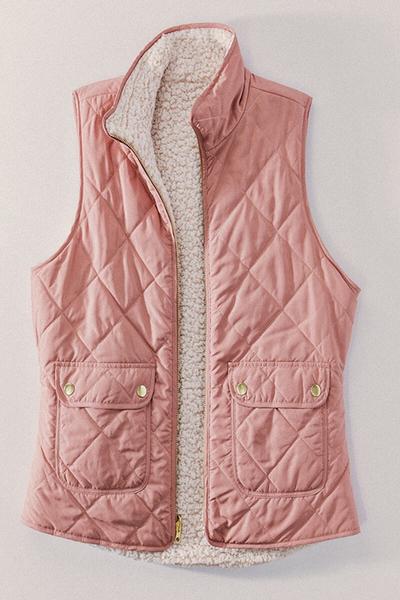 Reversible Puffer Vest Blush
