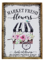 Metal Woven Wall Sign Market Fresh Flowers ***Local Pickup Only***
