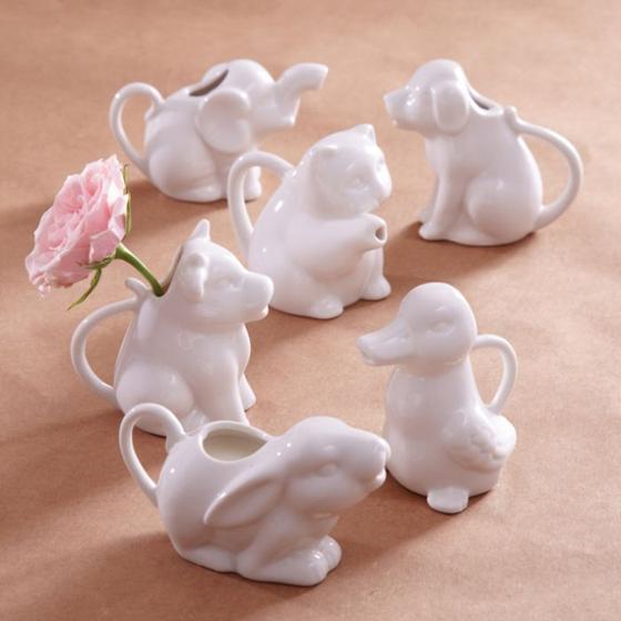 Porcelain Animal Kingdom Pitchers