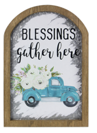 Metal Wall Sign Blessings Gather Here