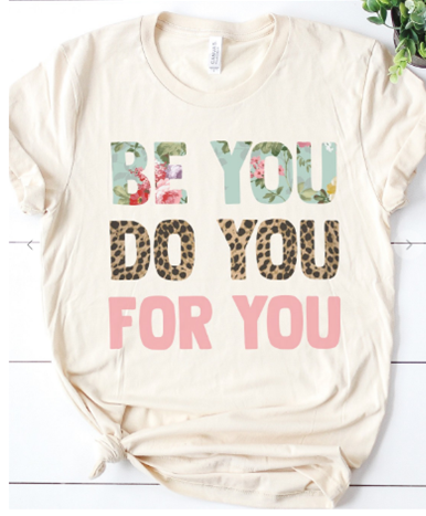 Be You Tee in Cream