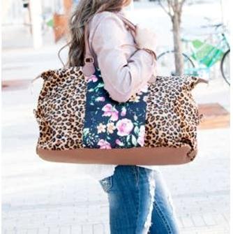 Cheetah Floral Weekender
