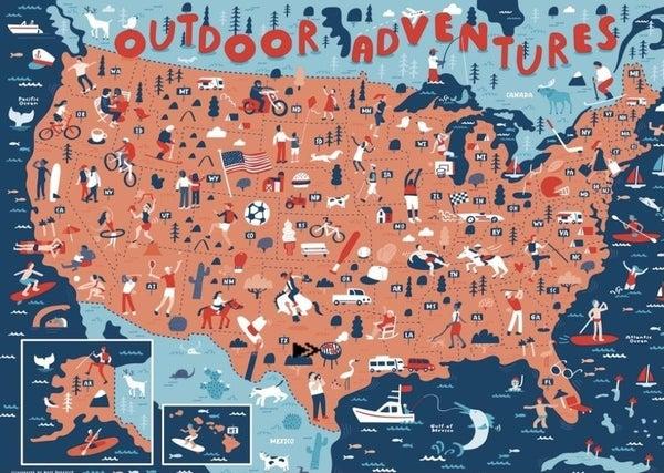 Outdoor Adventures 1000 Pc Puzzle