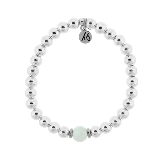 The Cape Bracelet with White Opal