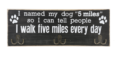 Triple Hook Five Miles Wall Sign