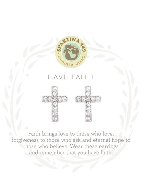 Sea La Vie Have Faith Stud Earring Silver