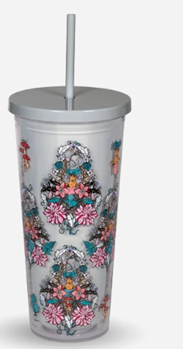 Vera Harry Potter Double Wall Tumbler w Straw Herbology