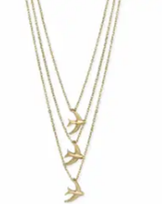 Sweet Swallows Bird Layer Necklace