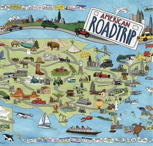 American Road Trip 1000 Pc Puzzle