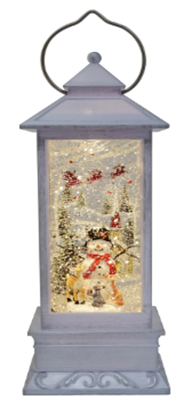 """12"""" Santa and Friends Glitter Lantern ***Local Pickup Only***"""