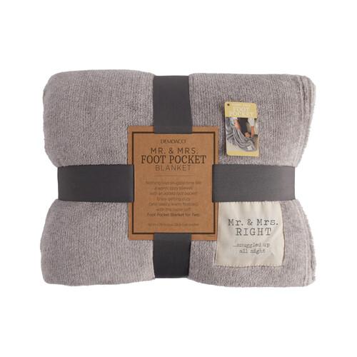 Mr. & Mrs. Foot Pocket Blanket
