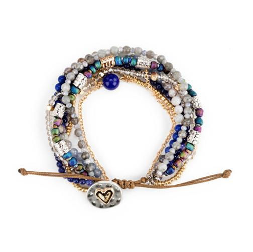 Beaded Love Bracelet Indigo