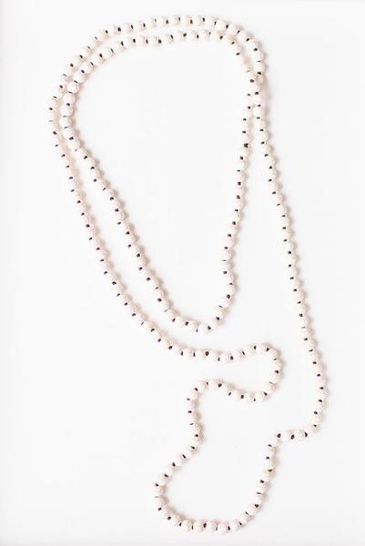 "LC Renee Long Cream Layering Beaded Necklace 60"""
