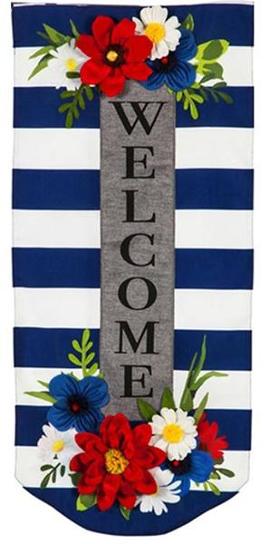 Navy Stripe Floral Everlasting Impressions