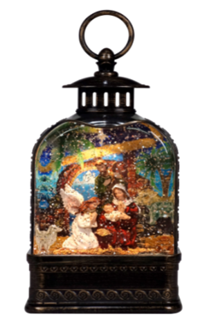 """10.75"""" Nativity Dome Christmas Lantern  ***Local Pickup Only***"""