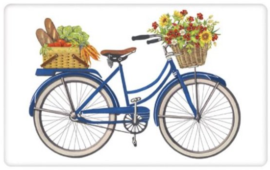 Farmers Market Bike Flour Sack Towel