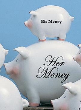 His Money/Her Money Pig Bank