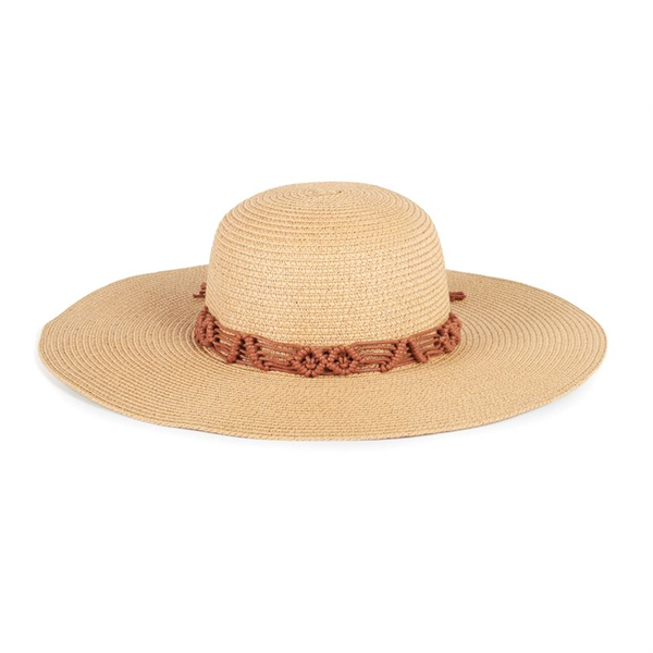 Oversized Floppy Beach Hat w Braid