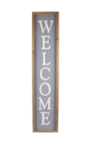Vertical Welcome Wall Sign