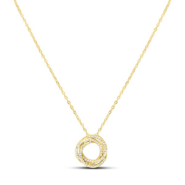 XOXO Chain Necklace  Pave Tri O Gold