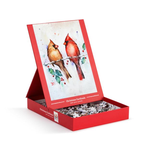 Christmas Cardinals 500 Pc Puzzle